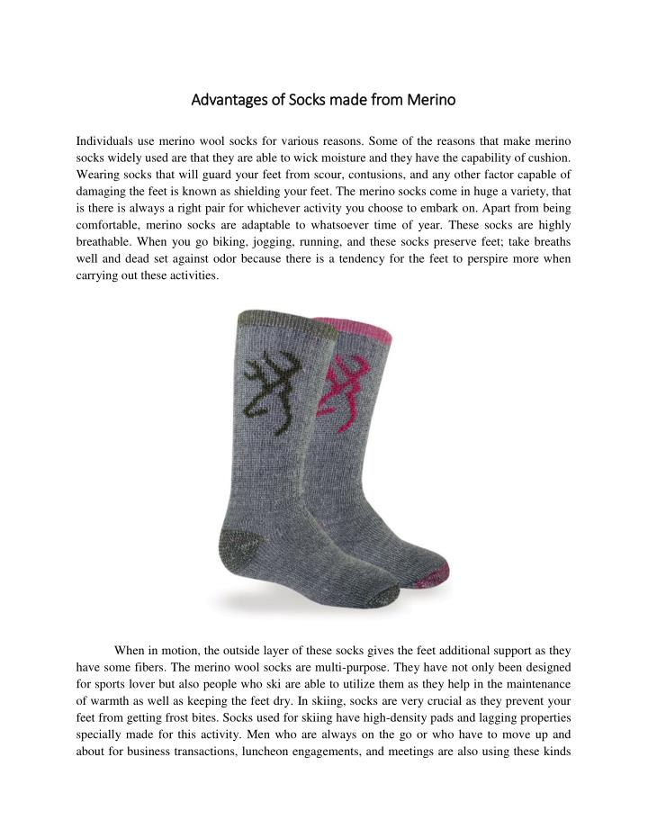 Advantages of Socks made from Merino