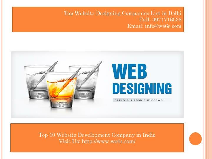 Top Website Designing Companies List in Delhi