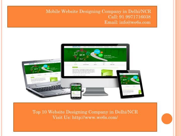 Mobile Website Designing Company in Delhi/NCR