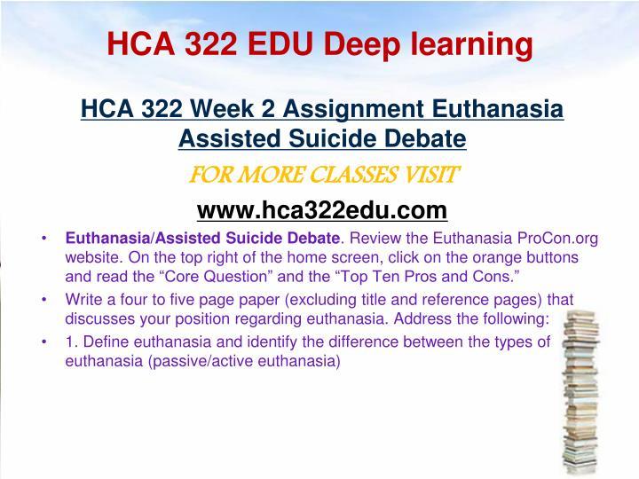 HCA 322 EDU Deep learning