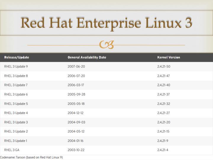 Red Hat Enterprise Linux 3
