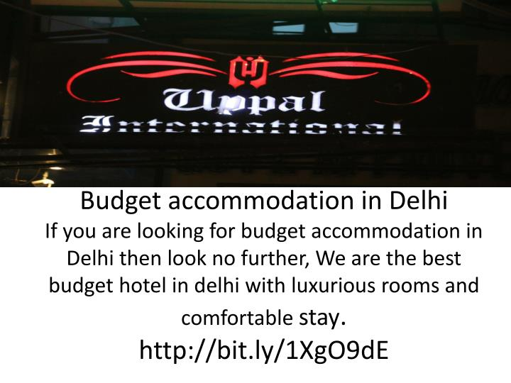 Budget accommodation in Delhi