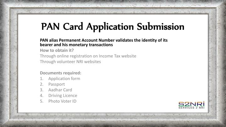 PAN Card Application Submission