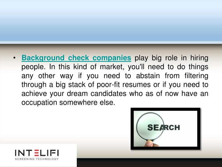 Background check companies