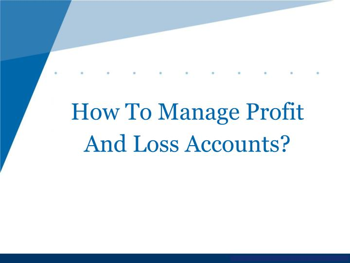 How To Manage Profit