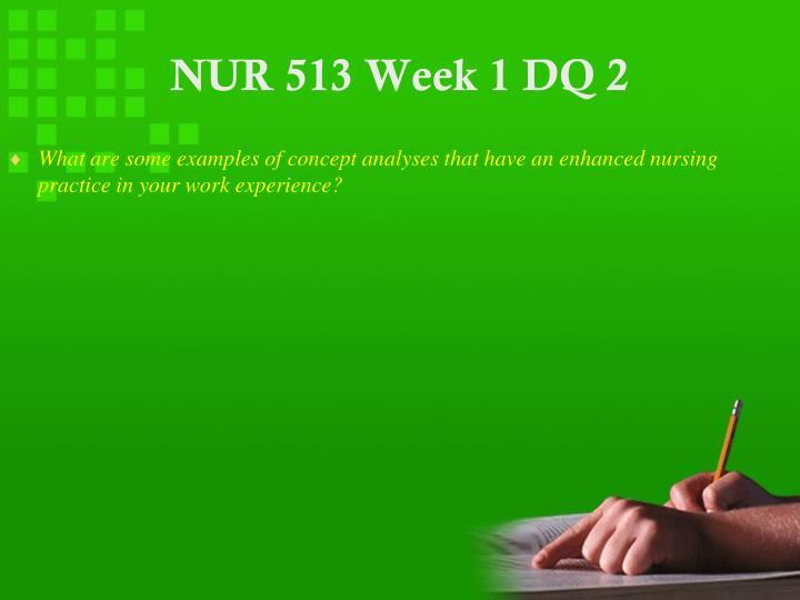 NUR 513 Week 1 DQ 2