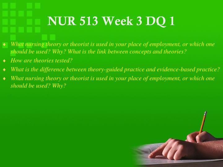 NUR 513 Week 3 DQ 1
