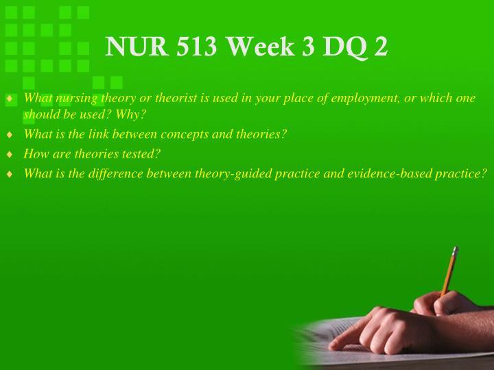 NUR 513 Week 3 DQ 2
