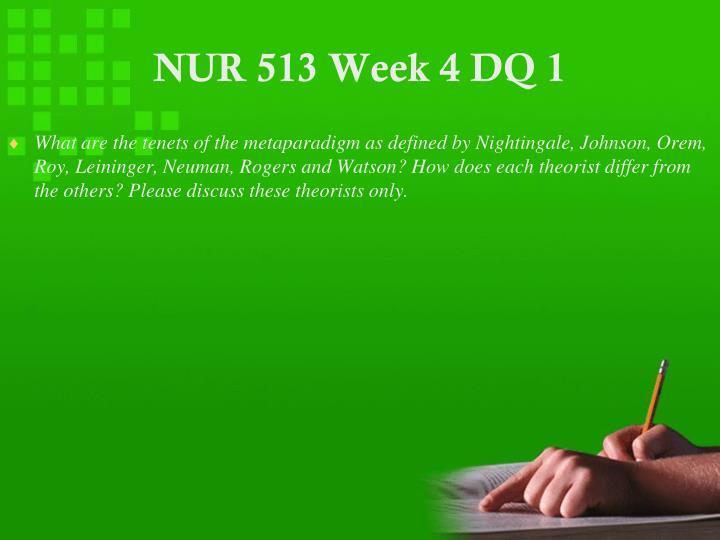 NUR 513 Week 4 DQ 1