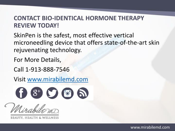 CONTACT BIO-IDENTICAL HORMONE THERAPY REVIEW TODAY!