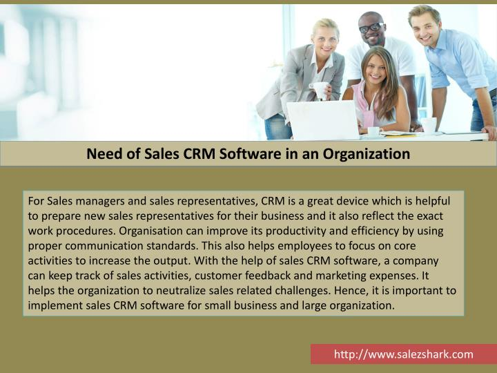 Need of Sales CRM Software in an Organization