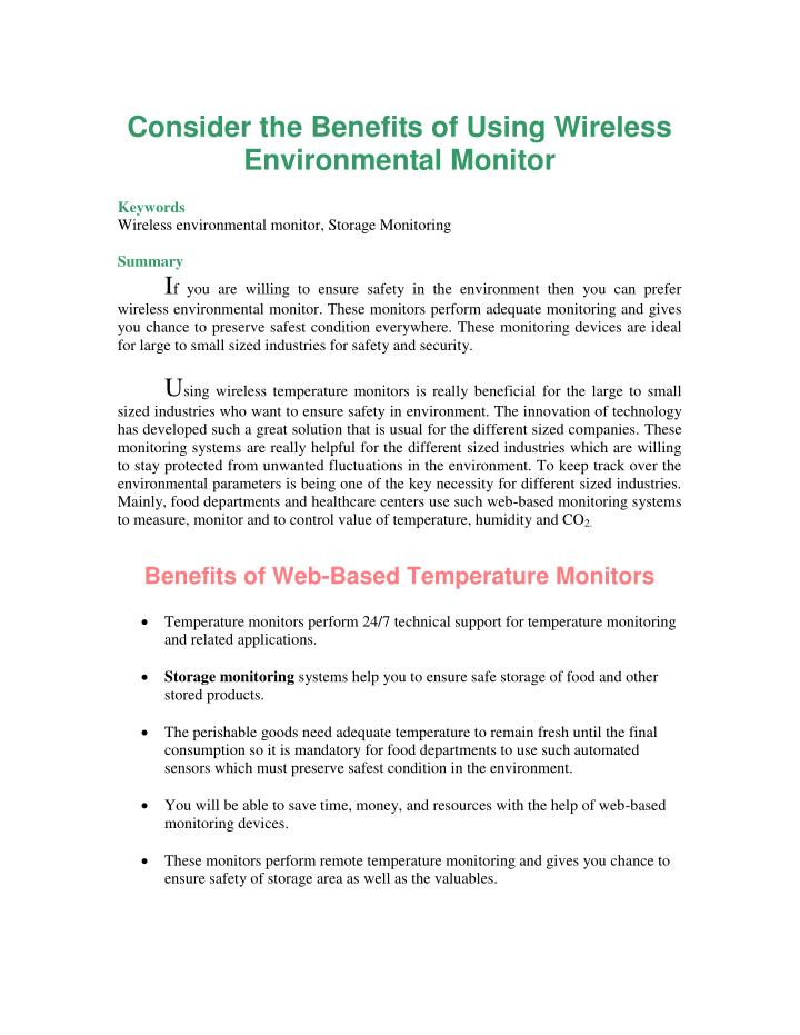 Consider the Benefits of Using Wireless