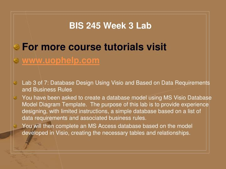 BIS 245 Week 3 Lab