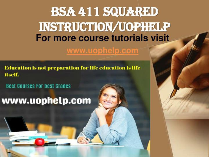 Bsa 411 squared instruction uophelp