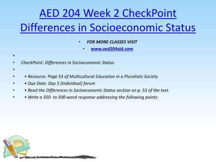 AED 204 Week 2