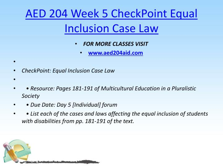 AED 204 Week 5