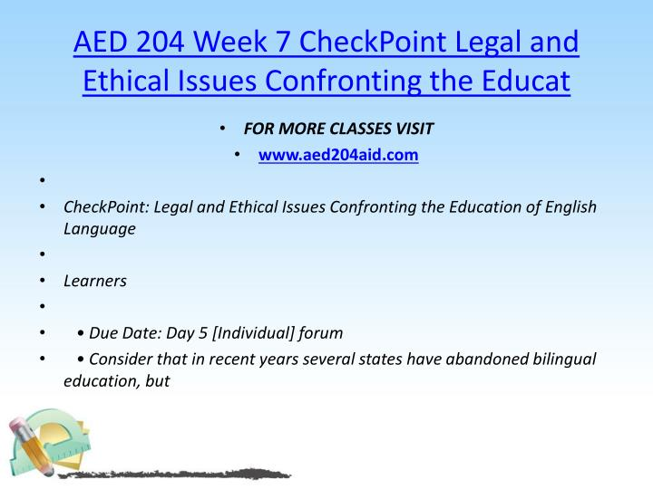 AED 204 Week 7