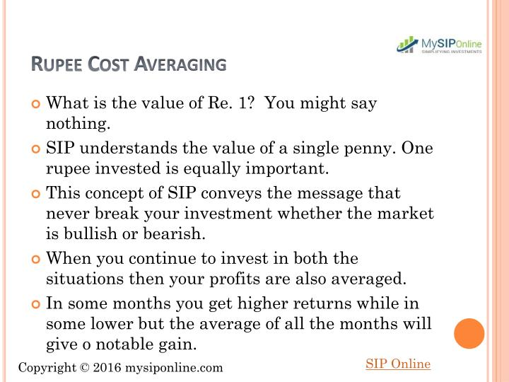 Rupee Cost Averaging