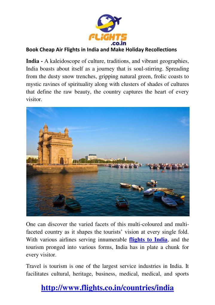 Book Cheap Air Flights in India and Make Holiday Recollections