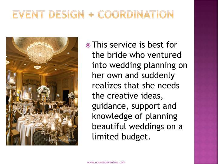Event Design + Coordination