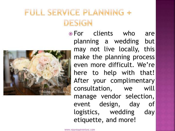 Full Service Planning + Design