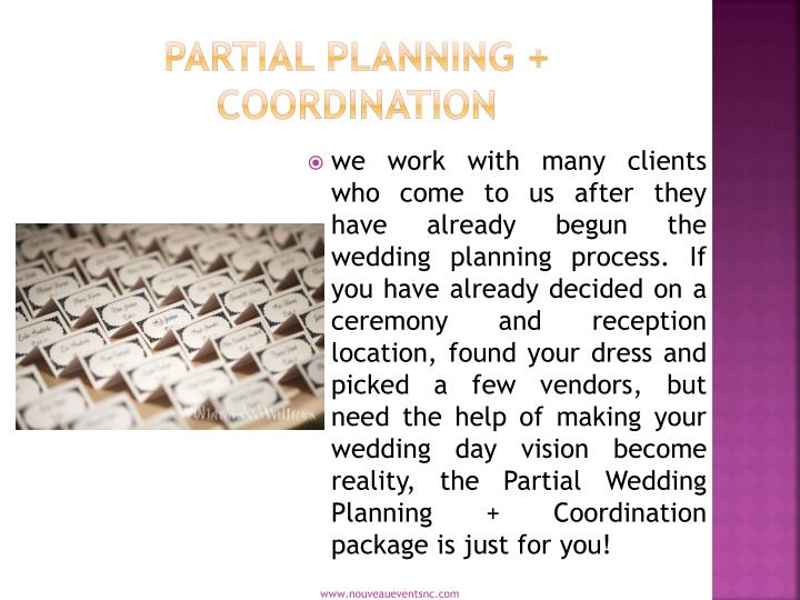 Partial Planning + Coordination