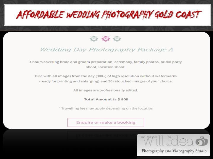 Affordable Wedding Photography Gold Coast