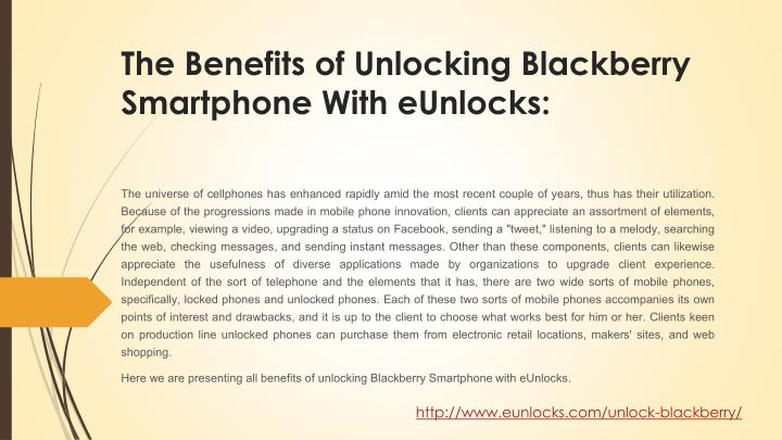 The Benefits of Unlocking Blackberry