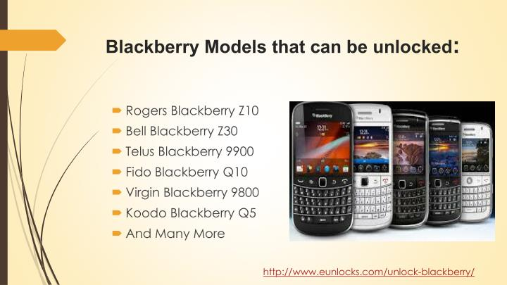 Blackberry Models that can be unlocked