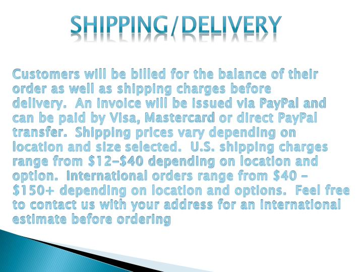 Shipping/Delivery