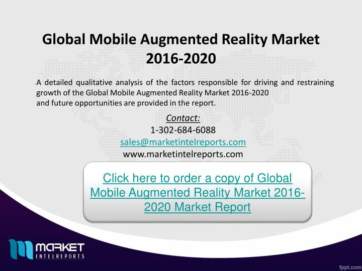 Global Mobile Augmented Reality Market 2016-2020