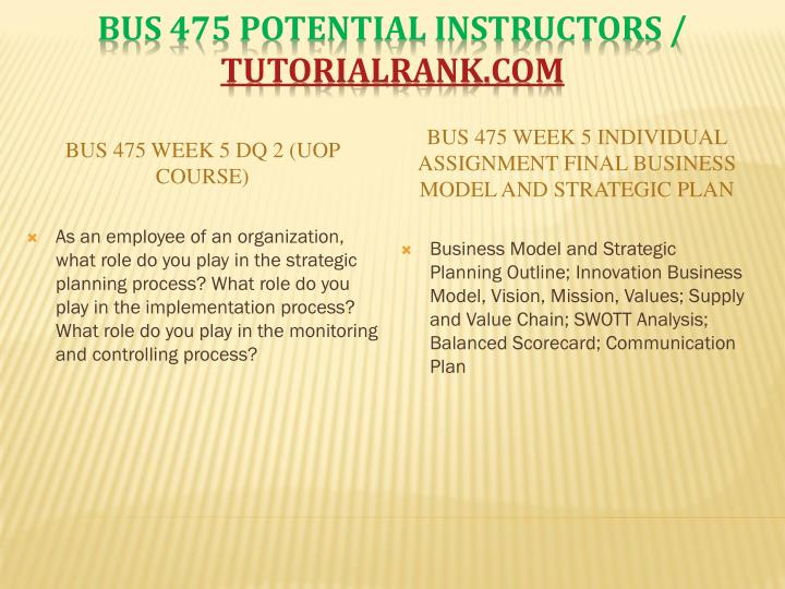 BUS 475 Week 5 DQ 2 (UOP Course)