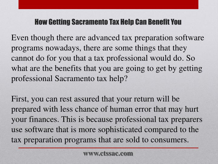 How getting sacramento tax help can benefit you2