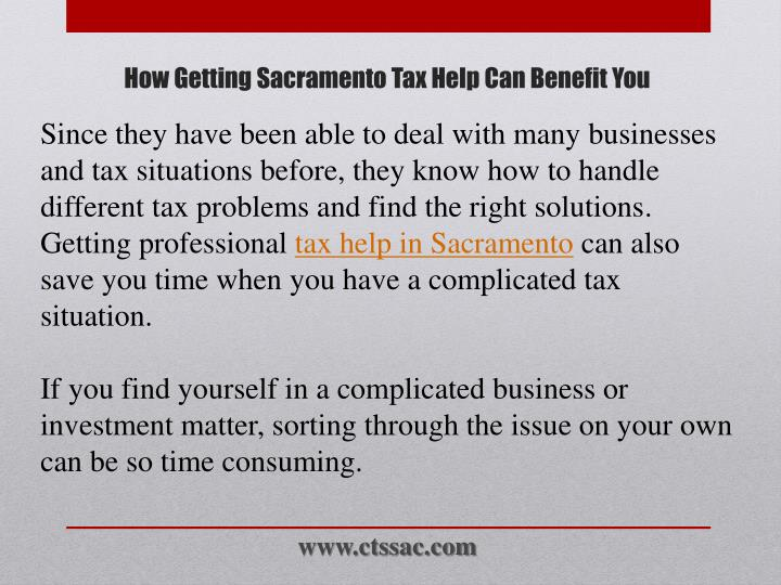 Since they have been able to deal with many businesses and tax situations before, they know how to handle different tax problems and find the right solutions