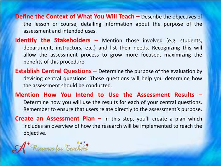 Define the Context of What You Will Teach