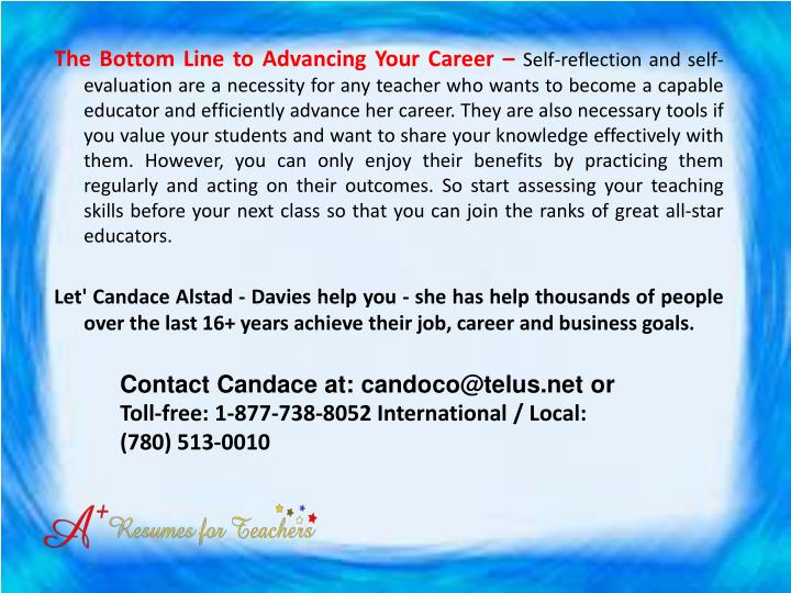 The Bottom Line to Advancing Your Career