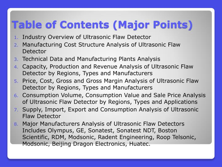 Industry Overview of Ultrasonic Flaw Detector