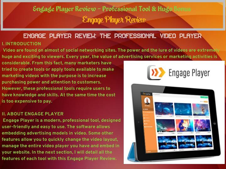 Engage Player Review - Professional Tool & Hugo Bonus