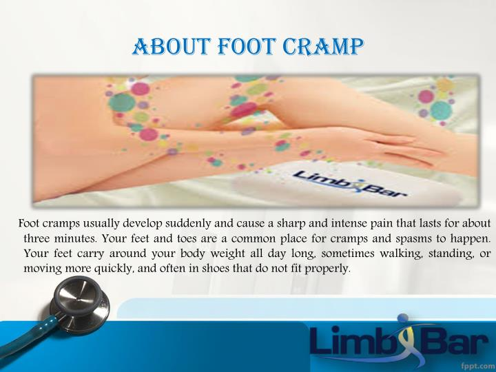 About foot cramp