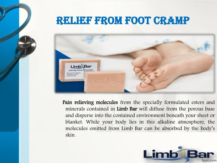 Relief from foot cramp