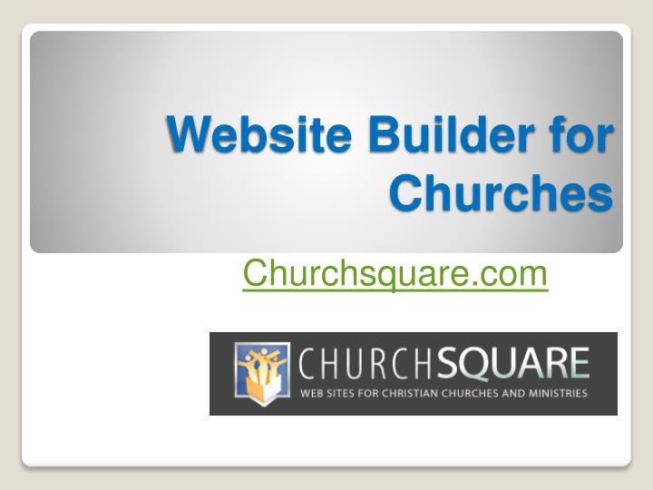 Website builder for churches