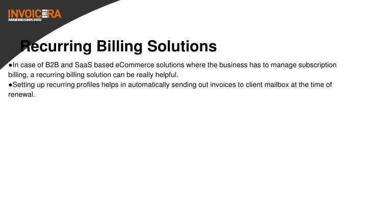 Recurring Billing Solutions