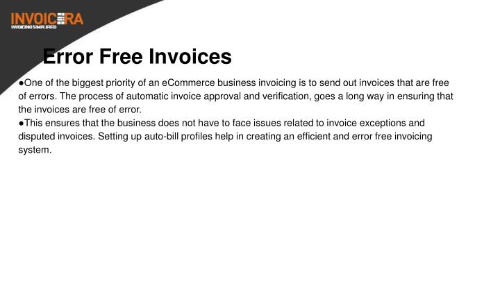Error Free Invoices