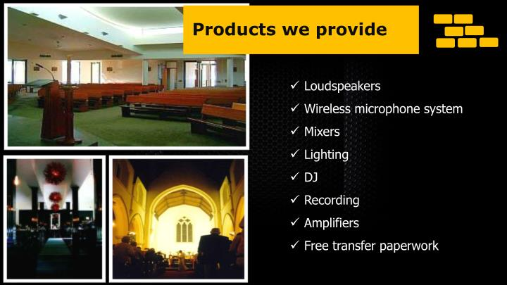 Products we provide