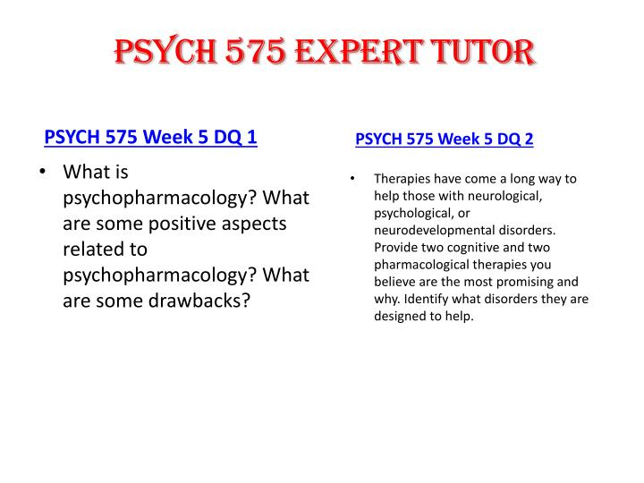 PSYCH 575 expert tutor