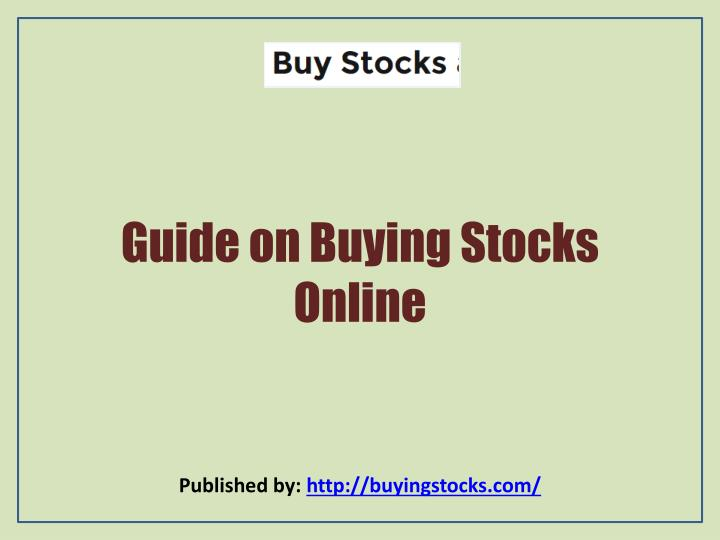 Guide on Buying Stocks Online