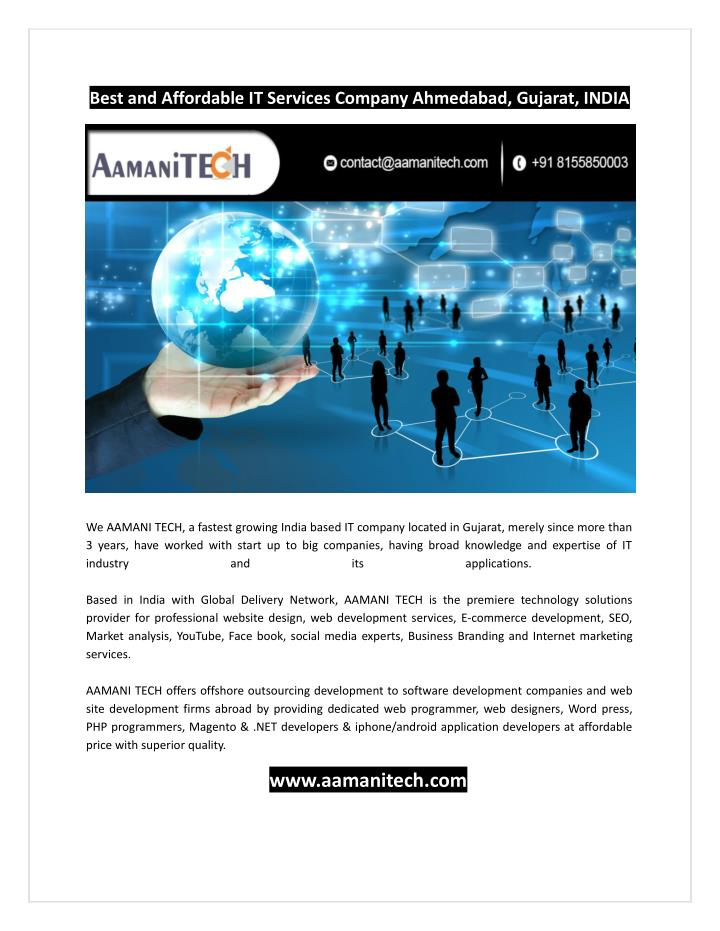 Best and Affordable IT Services Company Ahmedabad, Gujarat, INDIA