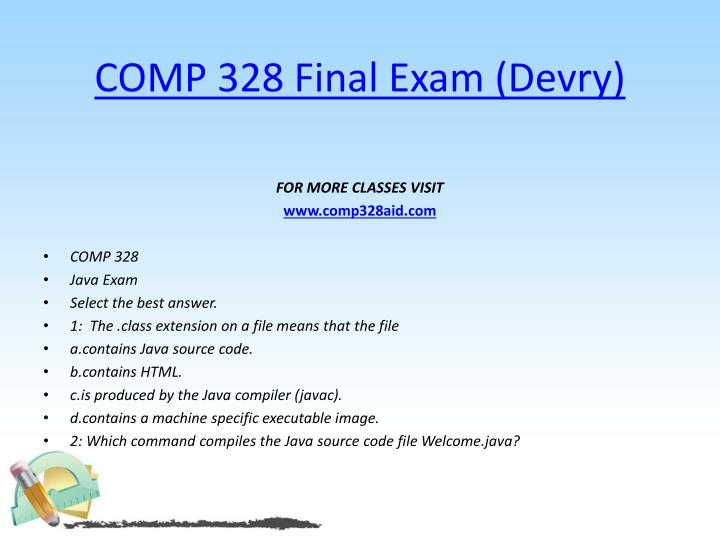 Comp 328 final exam devry