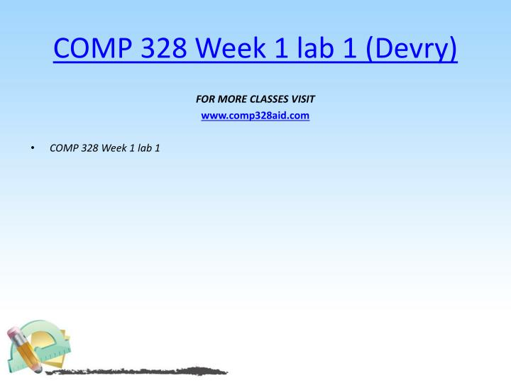 COMP 328 Week 1 lab 1 (