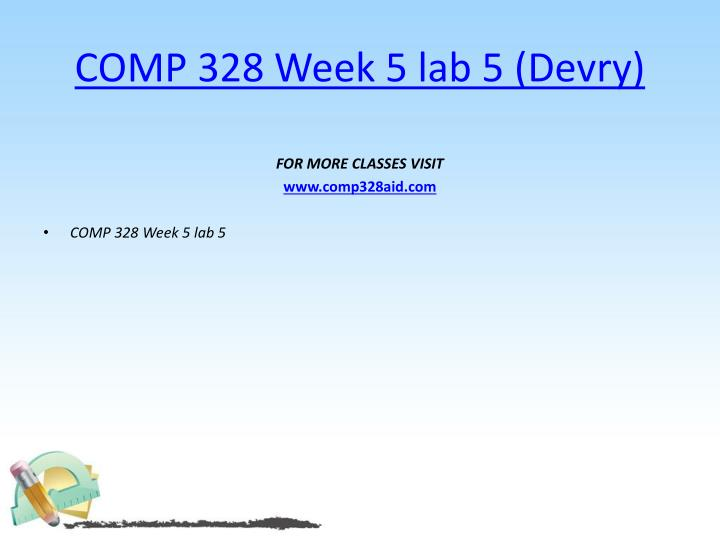 COMP 328 Week 5 lab 5 (